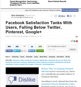 Why are you Dissatisfied with Social Networks?
