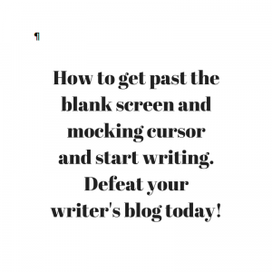 How to get past writer's block today