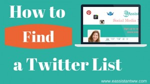 Twitter Lists: How to Find Relevant Lists to Follow