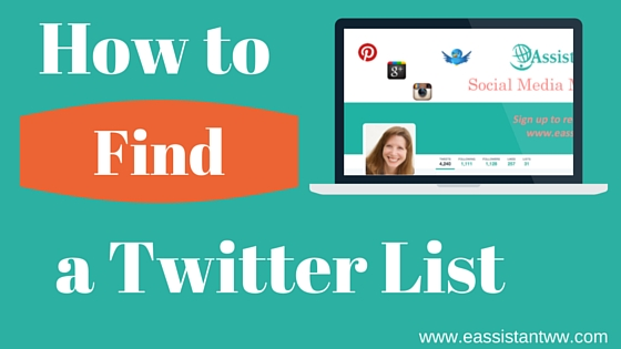 How to find a twitter list