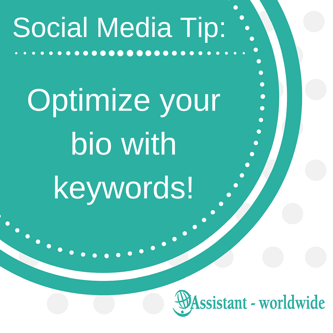 Optimize your bio with keywords!